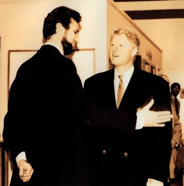 President Clinton and Michael Krebs