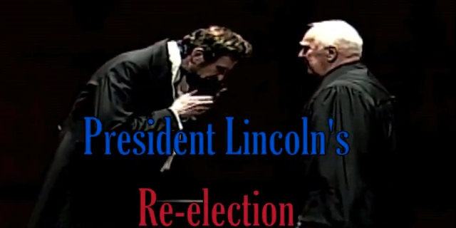 Actor Michael Krebs presents Abraham Lincoln